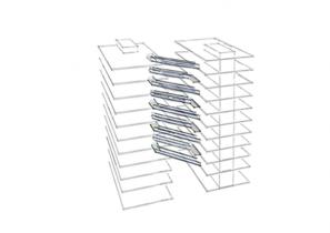 SVG Hochhaus - Entwurfskonzept - Stege