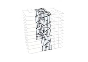 SVG Hochhaus - Entwurfskonzept - Atrium